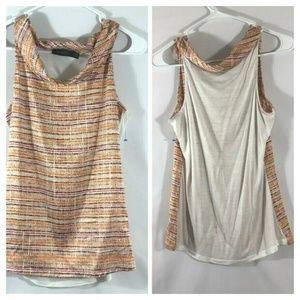 The Limited Blouse Yellow Printed Draped Neckline